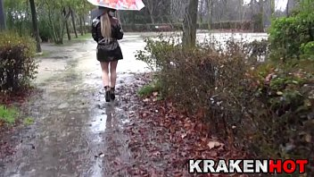 outdoor april blonde Granny kati 65y by snahbrandy
