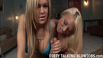 two from blondes deepthroat off suck Stoping for fun