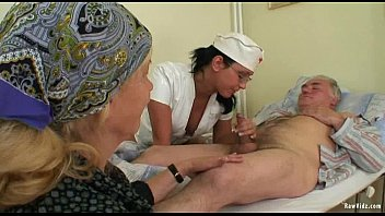 oldwomen man and old xnxx Blonde oiled up doggystyle porn