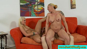her fuck stepmom hohomemade lets stepson Vulgar fuckfest party with delightsome angels