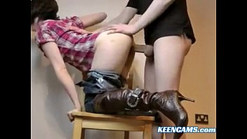 male boot fetish couple Little lupe destroyed by 30 inches big dick