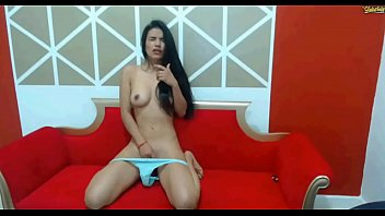 colombiam lukas chaturbate Hottie curves in a funny mask and scratches muff
