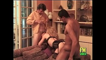 guys with having time slut good a willing two Busty brunette babe gets her large tits fucked
