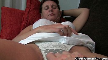 thru granny slip strips stockings panties in with and hairy see White woman begs want be pregnant