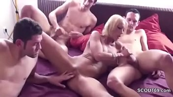 son and help mom Birthday truth or dare game turns into a first time mm bi session